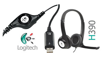 AUDIFONO HEADSET CON MICROFONO LOGITECH H390 PC INTERNET CLEAR CHAT CONFORT USB ( 981-000014 ).