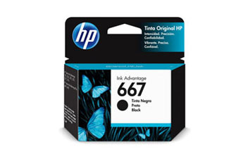 CARTUCHO HP 667 - 3YM79AL - NEGRO - 2ML - PARA IMPRESORA INK ADVANTAGE 1275 / 2375 / 2775 / 6475
