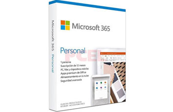 MICROSOFT OFFICE 365 PERSONAL - SUBSCRIPTION LICENSE FOR PC Y MAC ( 1 YEAR )- SPANISH - LATIN AMERICA, ONLY MEDIALESS 1 USUARIO, P6 INCLUYE: WORD, EXCEL, ONENOTE, POWERPOINT, OUTLOOK, PUBLISHER, ACCESS