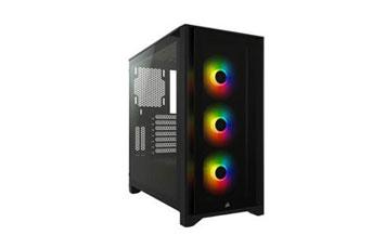 CASE CORSAIR ICUE 4000X, MID TOWER, BLACK, 7 EXPANSION SLOT, 3X 2.5, 2X 3.5, TAPA DE CRISTAL TEMPLADO, INCLUYE 3 ABANICOS 120MM RGB FRONTAL