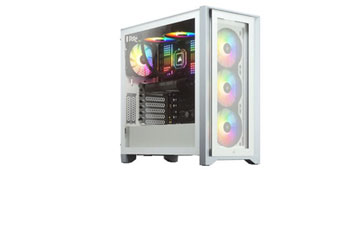CASE CORSAIR ICUE 4000X, MID TOWER, WHITE, 7 EXPANSION SLOT, 3X 2.5, 2X 3.5, TAPA DE CRISTAL TEMPLADO, INCLUYE 3 ABANICOS 120MM RGB FRONTAL
