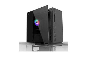 CASE MYO GAMING , 1 LED TRASERO AZUL FANS, USB 3.0 + 2 USB, AUDIO MYO-G450, UERTO, TRANSP. LADO IZQUIERDO, SIN ALIMENTACION